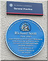 NT2673 : Plaque for Richard Scott, first Professor of General Practice in the world by David Hawgood