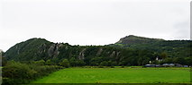 SH5840 : Portreuddyn Castle and farm by Bill Boaden