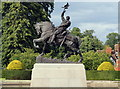SJ4160 : Bronze Equestrian Statue of Hugh d'Avranches, 2nd Earl of Chester by Jeff Buck