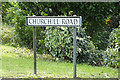 TL8783 : Churchill Road sign by Adrian Cable