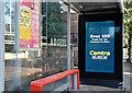 J3774 : Digital bus shelter advertising, Strandtown, Belfast - September 2017(2) by Albert Bridge
