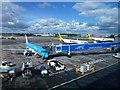 SP1884 : Aeroplanes at Birmingham International Airport by Richard Humphrey