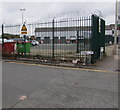SD5805 : DANGER - Razor wire, Orrell Street, Wigan by Jaggery