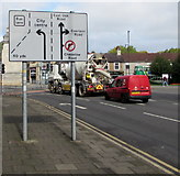 ST3188 : Directions sign at the NW end of Corporation Road, Newport by Jaggery
