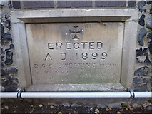 TL8783 : St Cuthbert, Thetford: datestone for the hall by Basher Eyre