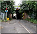 SU5290 : North side of a low and narrow railway bridge, Cow Lane, Didcot by Jaggery