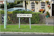 TL9165 : Station Hill sign by Adrian Cable