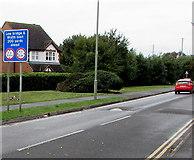 SU5290 : Low bridge & width limit 200 yards ahead, Cow Lane, Didcot by Jaggery