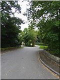 SK2572 : Access road to Baslow Sports Ground and Chatsworth caravan park  by David Smith