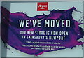 ST3188 : We've moved, Argos Extra, Stow Hill, Newport by Jaggery