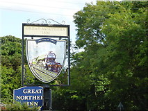 SK7964 : Pub sign by Bob Harvey