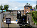 SO8693 : Lock flight at The Bratch near Wombourne, Staffordshire by Roger  Kidd
