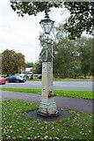 TL0506 : Pump and lamppost facing Boxmoor Hall by Julian Osley