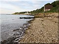 SZ3286 : The beach by the Old Lifeboat Station by Steve Daniels
