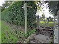 TQ8713 : Footpath Sign at Pett by PAUL FARMER