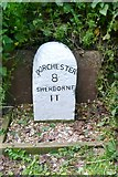 ST6601 : Old Milestone by the A352, Duck Street, Cerne Abbas by Milestone Society