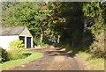NO7098 : Lane to Catterloch Farm by Stanley Howe