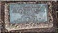 TL4459 : Plaque under willow tree by Bob Harvey