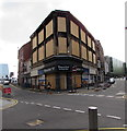 ST3188 : Fire damaged corner in Newport city centre by Jaggery