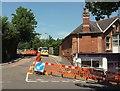 SX9064 : Roadworks, Sherwell Lane, Chelston by Derek Harper