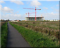 TL4654 : The Shelford path and the Abcam building by John Sutton
