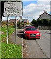 ST1082 : Bilingual distances sign in Pentyrch by Jaggery