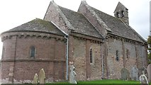 SO4430 : Ancient church with modern guttering by Peter Mackenzie