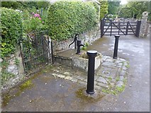 SK2375 : Pump and water trough, Stoney Middleton by David Smith