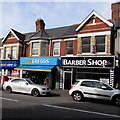 ST3289 : The Barber Shop and Greggs, Caerleon Road, Newport by Jaggery