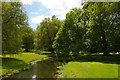 TL5238 : Audley End: gardens and River Cam, from the Tea Bridge by Christopher Hilton