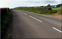 SO3216 : West along Old Ross Road towards Abergavenny by Jaggery