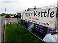 SO3316 : Copper Kettle information banner, Llanddewi Skirrid by Jaggery