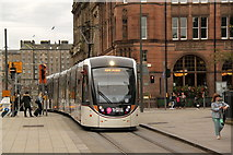 NT2574 : Tram at St Andrew's Square by Alan Murray-Rust