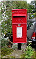 SO3617 : Queen Elizabeth II postbox, Caggle Street near Llanvetherine by Jaggery