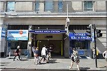 TQ2781 : Marble Arch Underground Station by N Chadwick