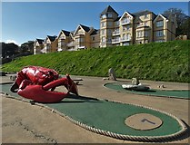 TA1280 : Giant lobster on Filey seafront by Neil Theasby