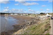 ST1166 : Beach and promenade, Whitmore Bay, Barry Island by M J Roscoe