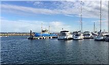 SY6874 : Bright morning, Portland Marina by Robin Stott