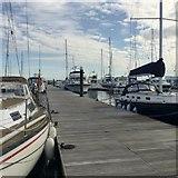 SY6874 : Wide pontoon, Portland Marina by Robin Stott