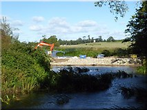 SO8843 : Work on the Water Splash in Croome Park by Philip Halling