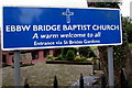 ST2986 : Ebbw Bridge Baptist Church name sign, Newport by Jaggery