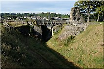 NZ0416 : Barnard Castle: Inner moat at the outer curtain wall by Bob Harvey