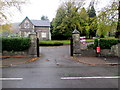 ST0191 : Main entrance to Trealaw Cemetery by Jaggery
