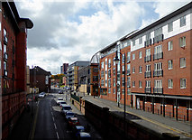 SP0686 : Holliday Street in Birmingham by Roger  Kidd
