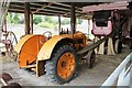 SN4860 : Fordson tractor driving a Jones Panther baler by Richard Hoare
