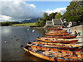 NY2622 : Rowing boats - Derwent Water by Chris Allen