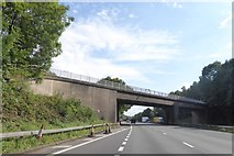SJ8441 : Hanchurch Lane bridge over M6 by David Smith