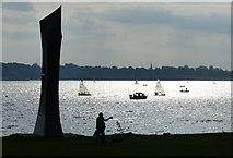 SK9308 : Great Tower sculpture overlooking Rutland Water by Mat Fascione
