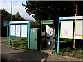 ST0091 : Information boards and phonebox, Dinas Rhondda railway station by Jaggery