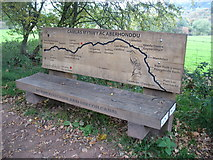 SO1619 : Bench beside the Monmouthshire and Brecon Canal by David Purchase